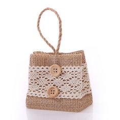 New Arrival Natural Color Jute Bag burlap Drawstring Bags Candy Gift Beads…