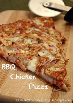 Barbeque Chicken Pizza on MyRecipeMagic.com