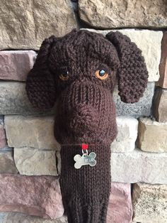 Excited to share this item from my shop: Made to order Hand knit labrador golf club cover (other colors abailable) Toddler Golf Clubs, Kids Golf Set, New Golf Clubs, Trendy Golf, Golf Club Head Covers, Gift For Music Lover, Crochet Toys, Hand Knitting, Tejidos