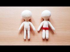 Basic doll body crochet - YouTube