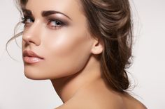 Glamour portrait of beautiful woman model with fresh daily make-up
