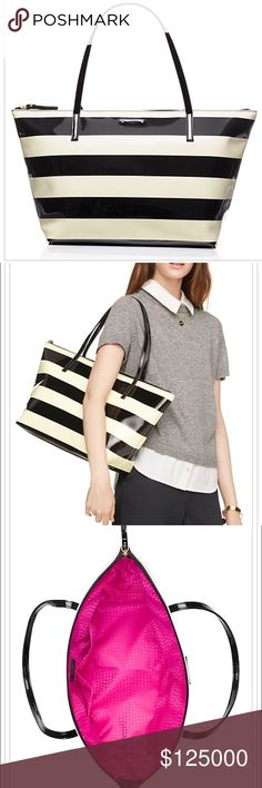 Kate Spade Penn Valley Sophie Stripe zipper tote. Super cute, light weight and on-trend. Very gently used by me. kate spade Bags Totes