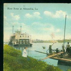 River Scene at Alexandria, La :: LSU Libraries Postcard Collections