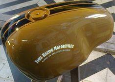 Auto Jawa 350 Cafe Racer 1993 Custom Paint Motorcycle, Motorcycle Tank, Custom Bobber, Scrambler Motorcycle, Motorcycle Engine, Custom Bikes, Honda Cb 100, Cafe Racer Tank, Jawa 350