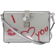 Dolce & Gabbana  I Love You Box Bag ($2,945) ❤ liked on Polyvore featuring bags, handbags, shoulder bags, dolce gabbana purses, pocket purse, locking purse, kiss-lock handbags and dolce gabbana handbags