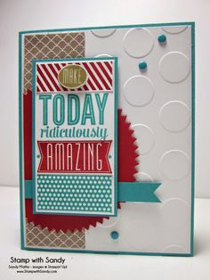 Stamp With Sandy: Amazing Birthday, Stampin' Up