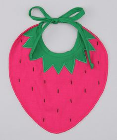 Take a look at this Pink Strawberry Bib by Dreaming Kids on #zulily today!