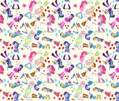 equestria Girls fabric by pink posh on Spoonflower - custom fabric
