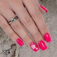 Pink & Flower 💞💅 www. Crystal Nails, Pink Flowers, Crystals, Beauty Nails, Jewelry, Jewlery, Jewerly, Schmuck, Crystal