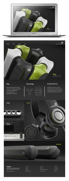 Para H productos ZeroThreeAudio: Sound Thinking by Dustin Brown, via Behance Web Design, Form Design, Layout Design, Portfolio Layout, Portfolio Design, Presentation Board Design, Plakat Design, Industrial Design Sketch, Design Research