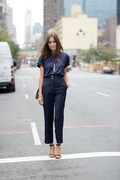 Giorgia Tordini on the streets in New York