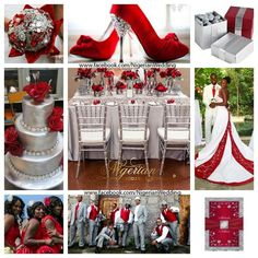 Red and silver wedding color scheme..:
