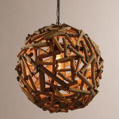 "18"" Driftwood Orb Chandelier | World Market"