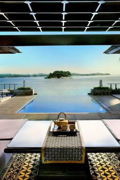 Villas have comfy living rooms that are ideal for staying in and simply relaxing. #Jetsetter Banyan Tree Bintan