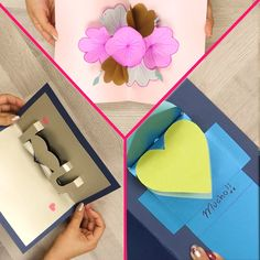 3 tarjetas originales para San Valentín Sígueme como Deitamix 11 aquí en contraras pines de tu agrado (づ ̄ ³ ̄)づ Diy Crafts Hacks, Diy Crafts For Gifts, Diy Arts And Crafts, Creative Crafts, Crafts For Kids, Paper Crafts Origami, Easy Paper Crafts, Origami Art, Diy Gift Box
