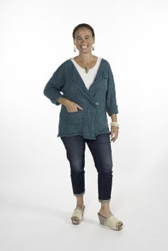 """would be great for plating The ultimate office cardy! With its open front and pin closure, the Vargas can be worn in many ways - pin at the top, or at the waist, keep it loose or sharp. So many possibilities.   One Size (2-18).  [share title="""""""" socials=""""facebook, twitter, google, pinterest, bookmark"""" class="""""""" icon_type="""""""" ]"""