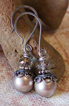 New Antiqued Earrings silver-ridges-handmade-earrings – Silverfish Artisan Jewelry