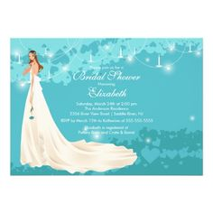 ReviewBride Bridal Shower Invitation Trendy TurquoiseIn our offer link above you will see