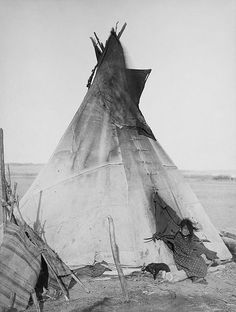 Oglala girl in front of a tipi- Belljarsf.com :: Gorgeous little things