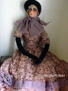 """Lovely Deco 34"""" French Boudoir Bed Doll from aeranth on Ruby Lane"""