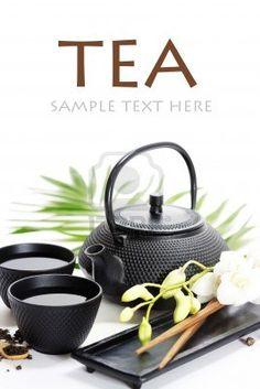 Asian food concept Green tea orchid and chopsticks with sample text Stock Photo Asian Tea Sets, Matcha Set, Loose Tea Infuser, Japanese Tea Set, Orange Tea, Cream Tea, Food Concept, Tea Accessories, Tea Ceremony
