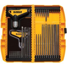 Model 31 Piece Ratcheting T Handle Hex Key Set - Dewalt 31 Piece Ratcheting T Handle Hex Key Set. Patent pending solid steel internal construction for added strength. Cheap Power Tools, Cool Tools, Buy Tools, Best Hand Tools, Garage Atelier, Dewalt Tools, Mechanic Tools, Hex Key, Wrench Set