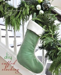 cg diy cuffed stocking