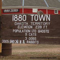 """The quaint """"1880 Town"""" near Oacoma, South Dakota, is an example of how a town would look in the Old West of 1880. Read travel stories at: www.robinballdesignsblog.com"""