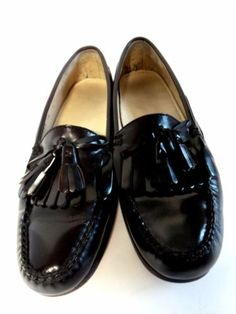 Men's Dress Shoes COLE HAAN Loafer Sz 10D Burgundy Leather Tassel in  Clothing, Shoes &