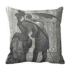 Vampire Kiss Victorian/Gothic Decorative Pillow #GothicHomeDécor,