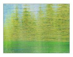"""'Stoffdesign """"Gebirgssee (4)"""" pp' von Rudolf Büttner bei artflakes.com als Poster oder Kunstdruck $16.63"""
