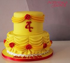 Beauty and the beast dress cake the top will have toy tiara on top at the party. Description from cakesdecor.com. I searched for this on bing.com/images