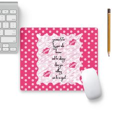 Cool new product Always Love You O...   Check out http://www.colorpur.com/products/always-love-you-on-pink-polka-dots-mouse-pad-black-base-artist-designer-chennai?utm_campaign=social_autopilot&utm_source=pin&utm_medium=pin