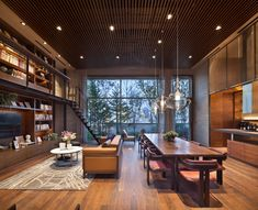 Post with 0 votes and 767 views. [Room] Spacious guest lounge in Cheongdam Ward, Gangnam District, Seoul, South Korea Loft Design, Modern House Design, Library Design, Design Design, Interior Design Living Room, Living Room Designs, Room Interior, Modern Interior, Interior Decorating