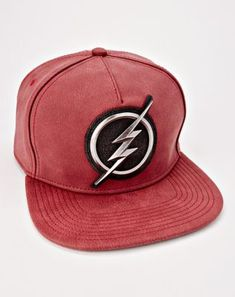 factory authentic d2d97 5fcba Metal Logo The Flash Snapback Hat - DC Comics - Spencer s