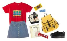 """""""98"""" by junk-food ❤ liked on Polyvore featuring American Apparel, Polaroid, ASOS, H&M and River Island"""