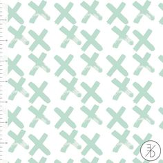Jersey en coton biologique menthe croix Elvelyckan Design