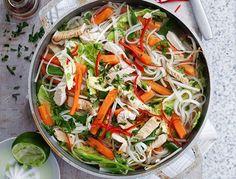 Photograph of healthy Vietnamese turkey noodle soup recipe