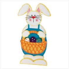 Wooden Easter Bunny Plaque