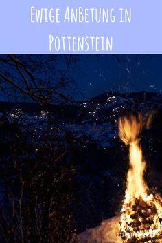 Die Ewige Anbetung in Pottenstein lockt jährlich am Dreikönigstag bis zu 15.000 Besucher. Kein Wunder, denn die Stimmung, wenn 1000 Feuer die umliegenden Hänge erleuchten ist einmalig. Dieses Jahr habe ich es auch endlich geschafft und eine kleine Winterwanderung unternommen.
