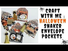 Craft With Me : HALLOWEEN Shaker Envelope Pockets - YouTube Halloween Party Favors, Halloween Cards, Halloween Fun, Scary Costumes, Shaker Cards, Cursed Child Book, Say Hi, Cardmaking, Shake Shake