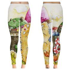 Yoshi's island watercolored leggings! Yoshi, Leggings, Island, Studio, Block Island, Islands, Study, Tights