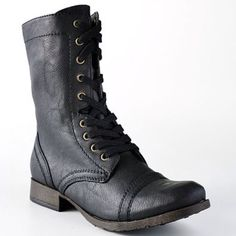 Combat boots SCUFFS ON TOES Please check out my closet  I'm $104k in debt & any purchase will help Candie's Shoes Combat & Moto Boots