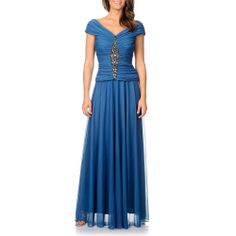 Cachet Women's Slate Embellished Evening Gown | Overstock.com Shopping - The Best Deals on Evening & Formal Dresses