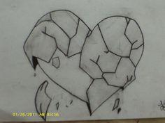 Easy Pencil Drawings Of Broken Hearts 2015 - Sunson