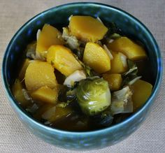 The Vegan Chickpea: Autumn Wellness Soup ---Garlic: very high in manganese.  Winter squash: very high in Vitamin A. Brussels sprouts: very high in Vitamin K and C. Oyster Mushrooms: significant levels of zinc, iron, potassium, calcium, phosphorus, vitamin C, folic acid, niacin, and vitamins B1 and B2. Kale: very high in Vitamin K, A, C, and manganese