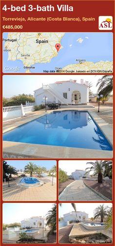 4-bed 3-bath Villa in Torrevieja, Alicante (Costa Blanca), Spain ►€485,000 #PropertyForSaleInSpain
