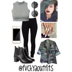 """Kylie Jenner Inspired"" by fashionkillas on Polyvore"