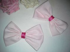 2 Pretty in Pink Bows Valentines Day bows Girly Bows by bowsngifts, $5.50