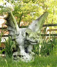 Gargoyle Statue Perfect for the Garden. Available at AllSculptures.com